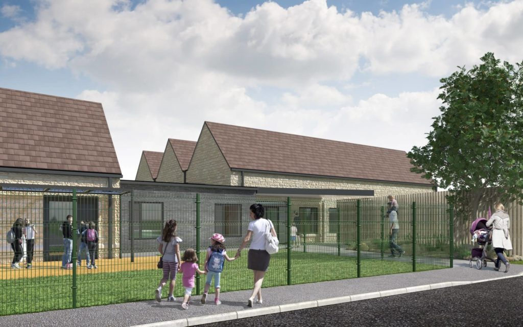 Part of the proposed extension of South Marston Primary school