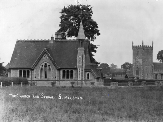 South Marston School and Church in 1905